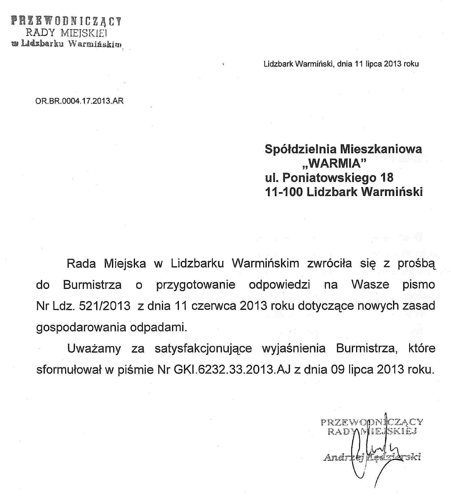 43 Sesja Rady Miasta Lidzbarka Warmińskiego Prace W Komisjach