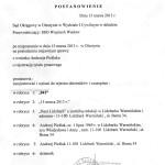 Wpis sądowy do rejestru dzienników i czasopism