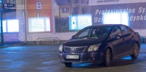 """Samochód służbowy Burmistrza 25.11.2014 r. godz. 17:26 na parkingu pod sklepem """"Jasam"""""""