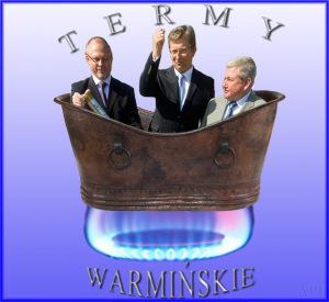 POmysł na logo Term Warmińskich, opracowane przez redakcję NL