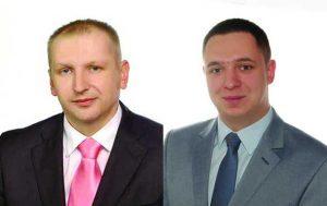 Radni Rady Miasta Lidzbark Warmiński, od lewej: Adam Brodowski, Damian Kardymowicz. Od lipca 2016 r. z wyższymi dietami