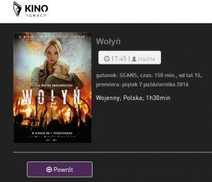 Zrzut ekranu ze strony kina w LDK-u. Lidzbarska projekcja filmu miała być ocenzurowana?