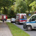 Groźny wypadek z udziałem młodego rowerzysty