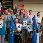 Protest POd lidzbarskim sądem