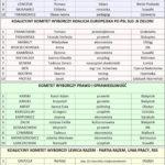 Wybory do Parlamentu Europejskiego - lista kandydatów z okręgu 3
