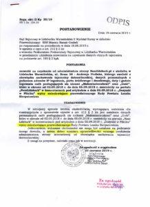 Rozprawa przed Naczelnym Sądem Administracyjnym w Warszawie @ Gabriela Piotra Boduena 3/5